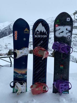 Tablas de SNOWBOARD Burton,por cambio de Sponsor