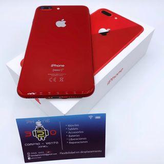 IPHONE 8 PLUS 64GB ROJO ORIGINAL FACTURA GARANTÍ