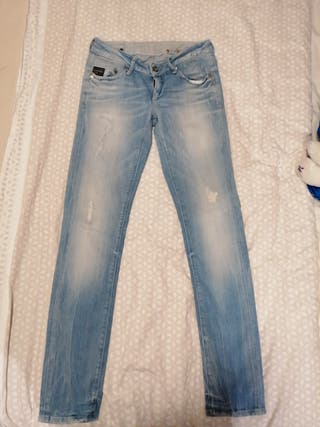 pantalon tejano mujer, talla 27, largo 32