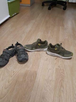 zapatillas de verano y de invierno