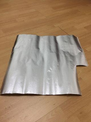 Aislante térmico fibra vidrio y aluminio