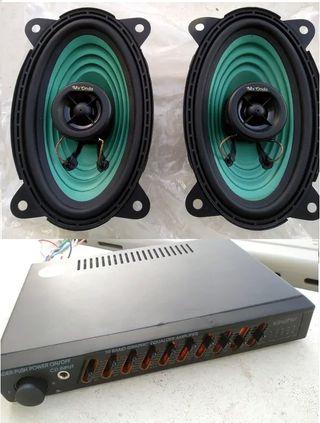 Amplificador + Altavoces Coche (SinUso)