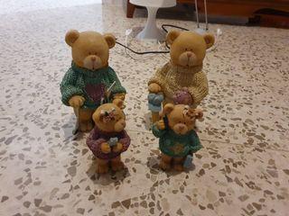 familia de osos figuras alta calidad