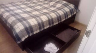 Estructura de cama 160 x 200 + somier + colchón