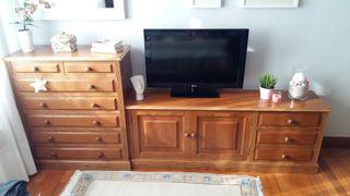 mueble de roble macizo