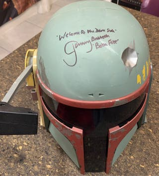 Star Wars autographed boba fett helmet