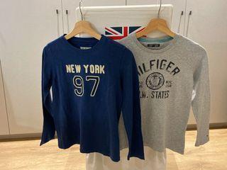 Lote 2 camisetas niño manga larga Hilfiger