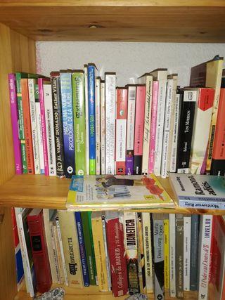 Varios títulos en ensayos, novelas, autoayuda, etc
