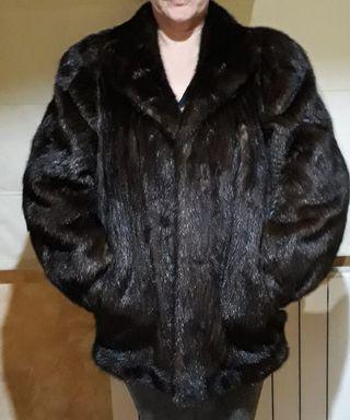 Abrigo visón auténtico