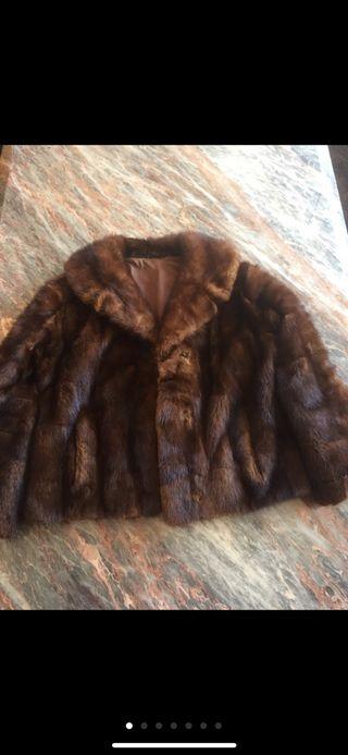 Chaqueta abrigo pelo visón vintage