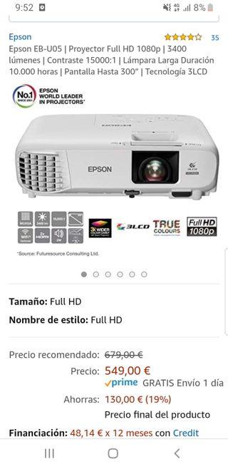 proyector EPSON Full HD 1080p NUEVO!