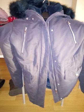 abrigo parka mujer mango