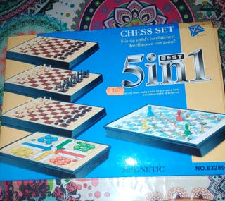 juegos 5/1. ajedrez, parchis, etc...