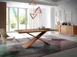 Mesa de comedor madera Nogal - NUEVO