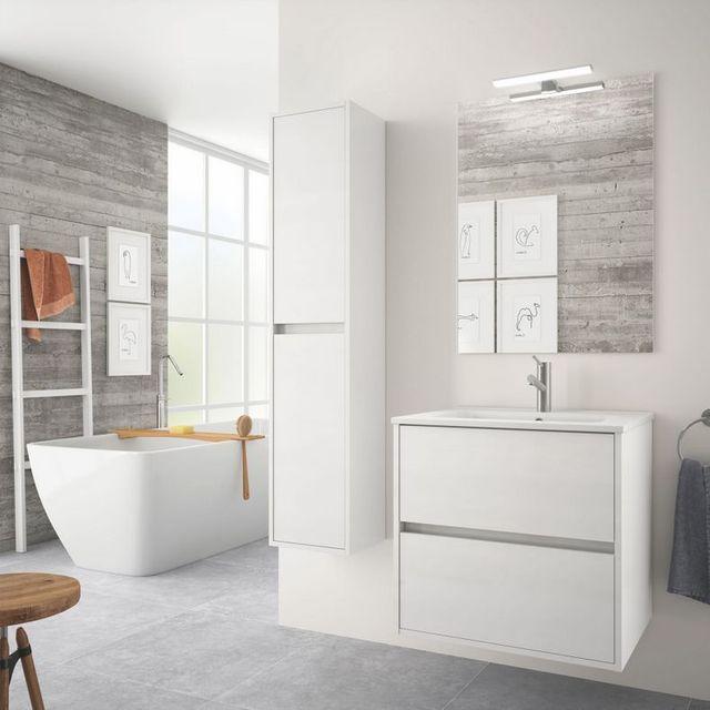 Mueble baño de pared + espejo