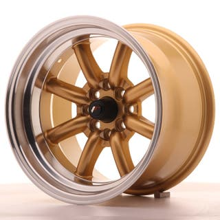 Japan Racing JR19 15x9 ET-13 4x100/114 Gold