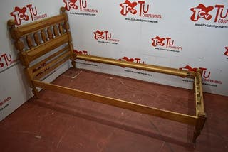 Estructura cama castaño 90x180 cm