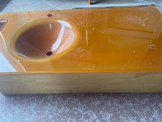 Lavabo encimera de cristal templado de 100 mtr