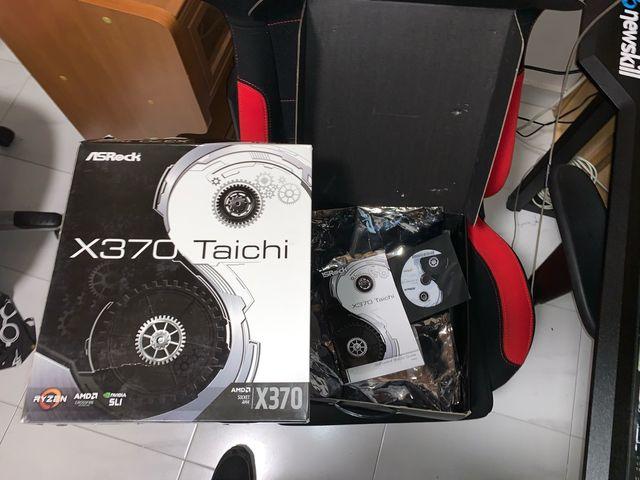 Placa base Taichi x370 con todos los accesorios