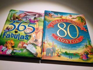 Lote de libros de cuentos (gallego) y fábulas