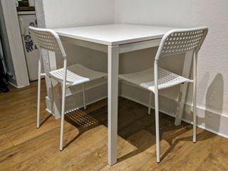 MESA CUADRADA COMEDOR BLANCA IKEA MELLTORP
