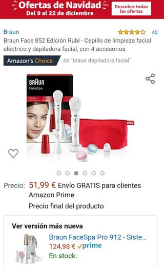 Depiladora facial Braun Face Spa+ cepillo facial