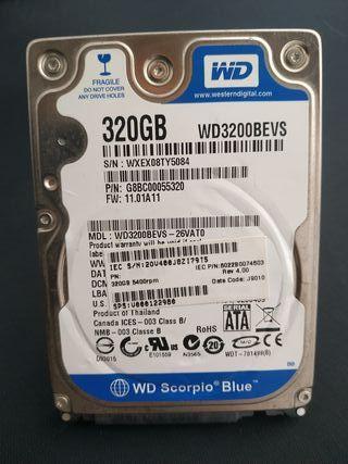 Disco duro western digital 320GB