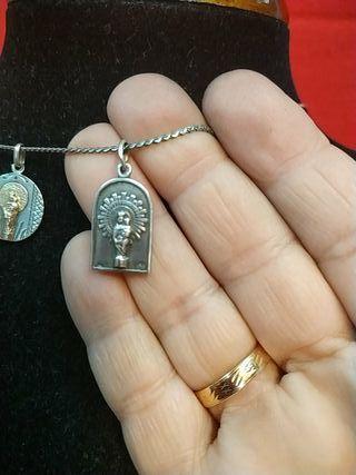 medalla virgen de pilar y sagrado corazón
