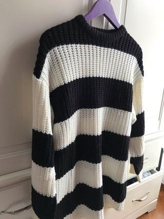 Jersey a rayas blanco y negro