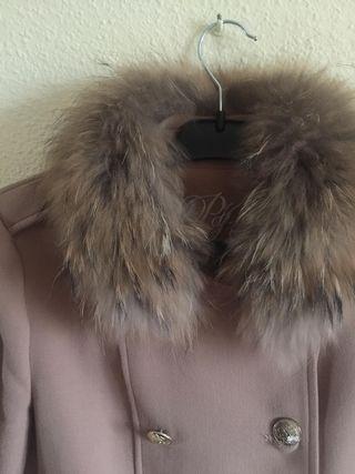 abrigo pedro del hierro cuello de zorro