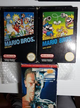 Marios Bros, Super Mario Bros, Terminator 2 NES