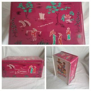 Antigua lata cintas de Cola-Cao.Motivos orientales