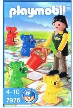 Playmobil: cuidadora zoo & juego mesa NUEVO
