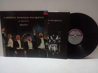 Carreras Domingo Pavarotti en Concierto Mehta 1990