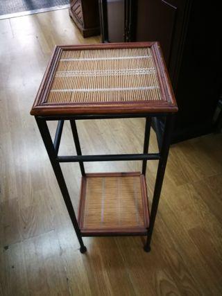 Velador forja y bambú
