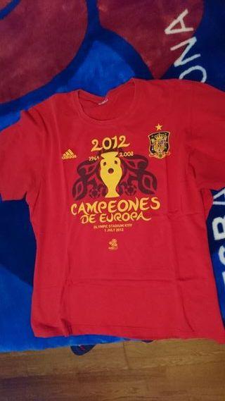 camiseta conmemorativa eurocopa 2012 España XL