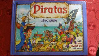 Libro puzzle Piratas. Libro infantil.