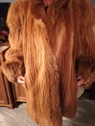 abrigo de piel de zorro 3\4