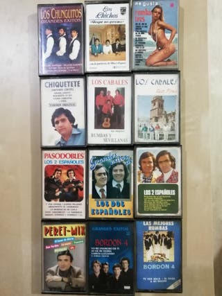 lote cassettes rumba, sevillanas,...