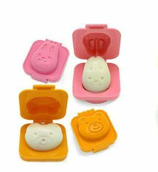 set molde huevos duros conejito y osito