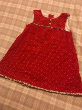 Vestido invierno niña 1-2 años navidad