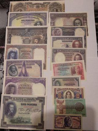Colección 45 billetes Reproducción