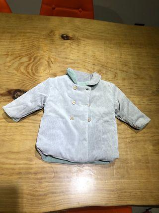 Talla 6-9 meses abrigo niña reversible de Tizzas