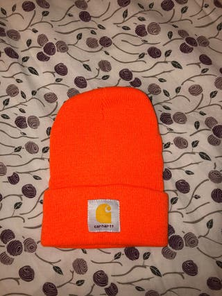 Gorro Carhartt naranja fosforito