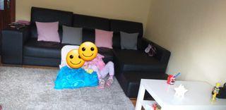 sofá polipiel 3 plazas chaise longue