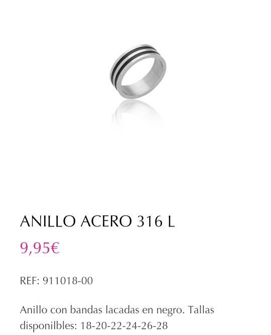 anillo (acero) hombre