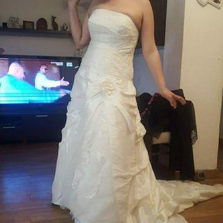 vestido de novia blanco roto