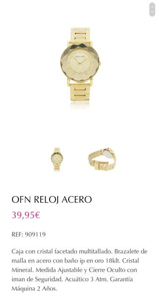 reloj acero (mujer)