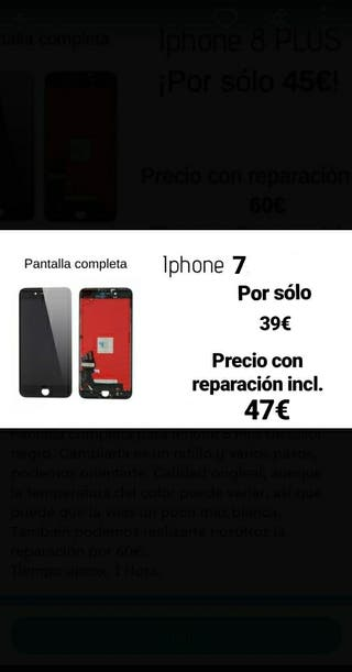 pantalla Iphone 7