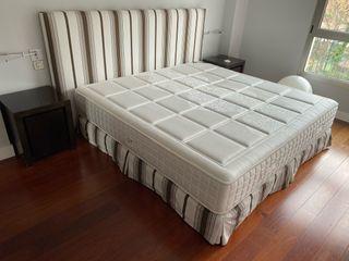 Conjunto cama matrimonio + mesillas de noche